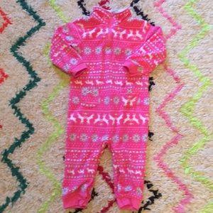 Carter's pink fleece onsie